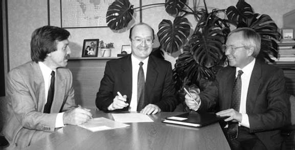 Signing the deal with STS - 1991